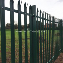 Green Powder Coated Palisade Security Fence