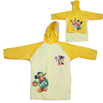 Yellow Kids Pvc Raincoat