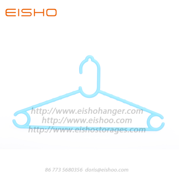 EISHO Colorful Mini Plastic Kids Hangers Blue