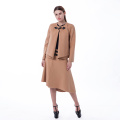 New round collar cashmere suit