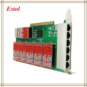 8 ports pci asterisk fxo fxs card,elastix card,trixbox card,Freeswitch pbx,TDM800P/AEX800 Asterisk card.Telephony IP PBX system