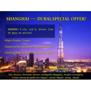 Shanghai Sea Freight to Dubai