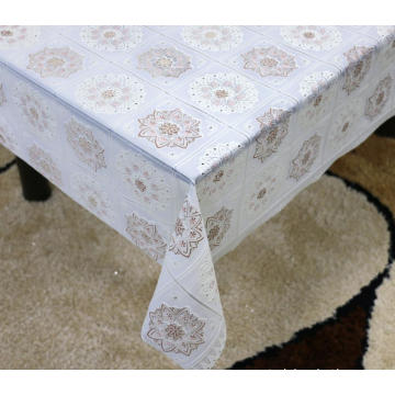 Printed pvc lace tablecloth by roll sale