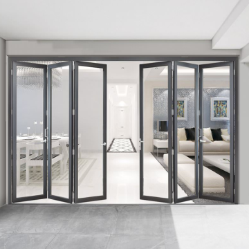 Good price  double glass aluminium folding door aluminum bi folding door