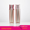 Wholesale cosmetic lotion bottles High grade pink/Rose gold acrylic Hexagon cosmetic Spray Bottle/jars with good price
