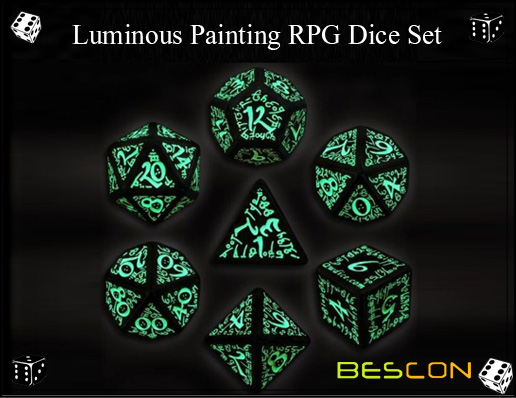 Luminous Painting RPG Dice Set