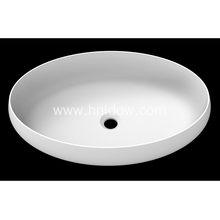 Elliptical matte stone pure acrylic sink for hotel
