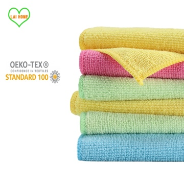 10PCS Kitchen Anti-grease Wiping Rags Super Absorbent Microfiber Cleaning Cloth Home Washing Dish Kitchen Cleaning Towel