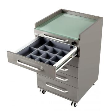 Mobile cart cabinet for dental office