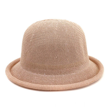 Large head fishmen bucket summer straw hat