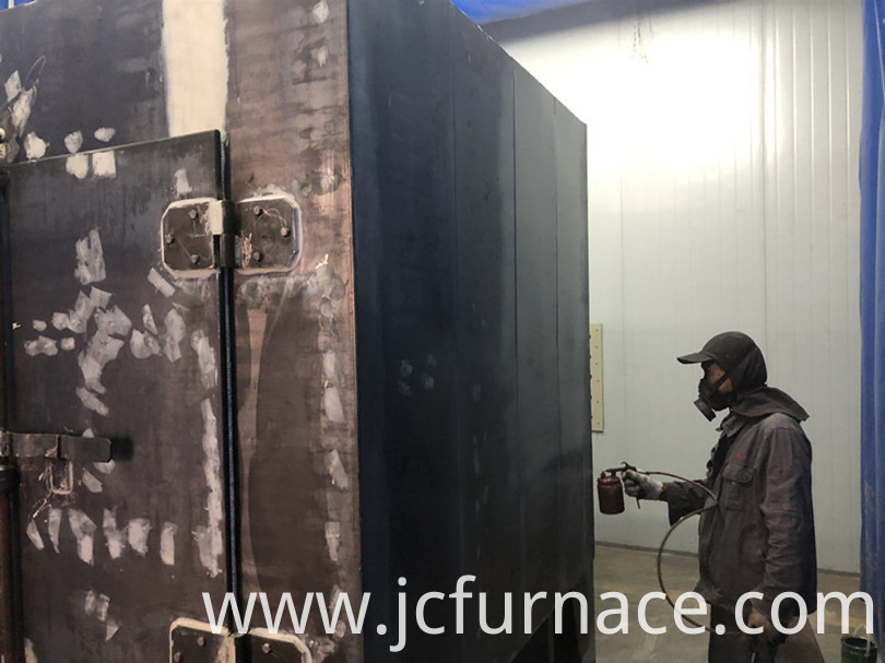 All-fiber chamber quenching furnace Spray paint job