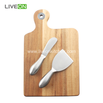 Acacia Board 2 Piece Cheese Knife Set