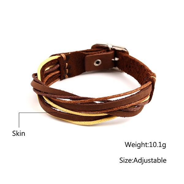 Weaved Custom Leather Bracelets