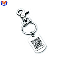 Metal Custom Name Tag QR Code Keychain