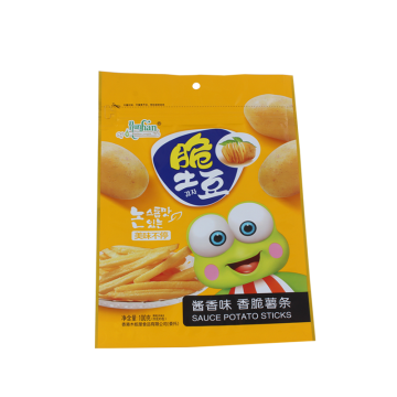 Customized Flat Pouch for Chips with Zipper