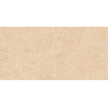 Cream kitchen stone floor tiles