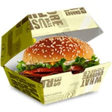Multi-color burger box