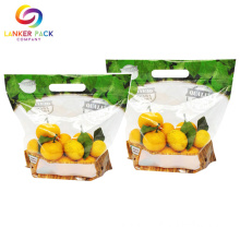Flexible Plastic Clear Stand Up Pouch For Fruit