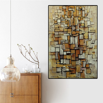 Canvas Painting Print Piet Cornelies Mondrian Still life Abstract Living Room Home Decor Modern Wall Art Oil Painting Poster HD
