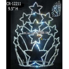 10 Inch Large Star Tiara Tall Pageant Crown