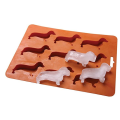 Easy Release Dog Shaped Silicone Ice Cube Molds