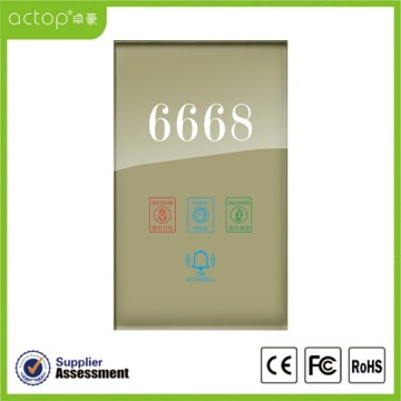 Smart Hotel Electric Number Doorplate Door display