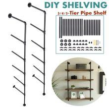 1 Pair 3/4/5 Tier Wall Shelf Brackets Iron Pipe Furniture Home Improvement Decor Diy Hardware Hanging Storage Shelves Brackets