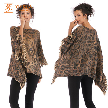 Fashion Bat Sleeve Leopard Loose Blouse for Women