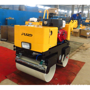 Road construction machinery walk behind double smooth drum roller FYL-800