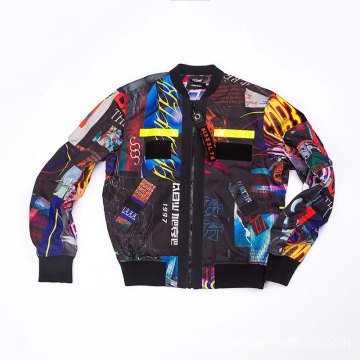 Male Polyester all over printing jacket