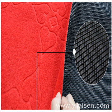 Customized size nonslip polyester embossed door mat