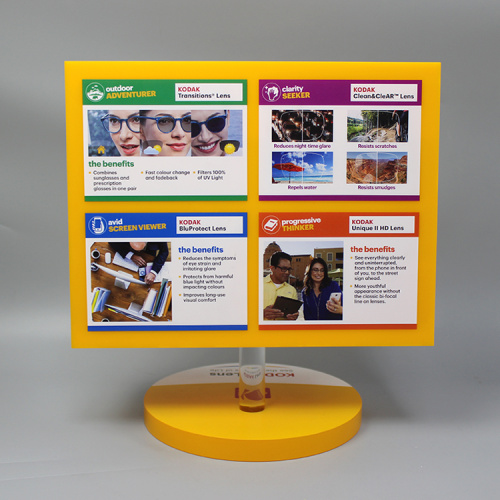 Custom Acrylic Rotating Retail Store Glasses Display Stand
