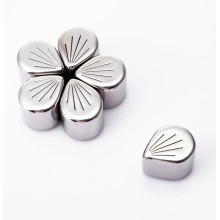 petal shape stainless steel whickey stone