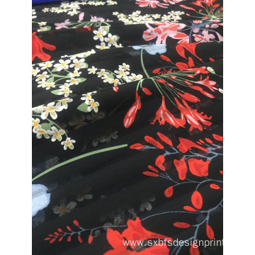 Polyester Stripe Printing Woven Fabric