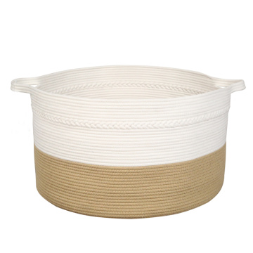 Eco-friendly cotton rope storage basket for toys collection