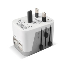 Portable World Universal Travel Adapter 4 USB Ports