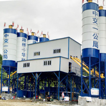 Precast stationary type HZS90 small concrete batching plant