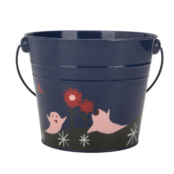 Metal Ice Bucket Water Bucket Round Shape