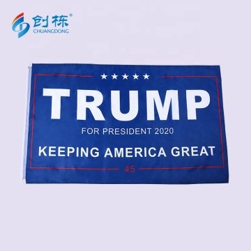 High quality silk screen printing polyester trump flag