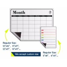 Monthly magnetic calendar for refriger