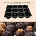 Custom Black Plastic Chocolate Blister Tray Packs
