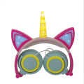 Unicorn Cat Ear LED Kids Creative Hörlurar