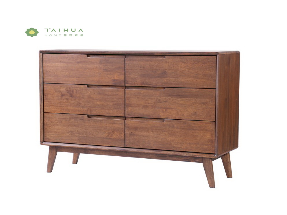 Dark Walnut Dresser Solid Wood