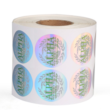 Custom Printed Logo Vinyl Round Labels for Packaging