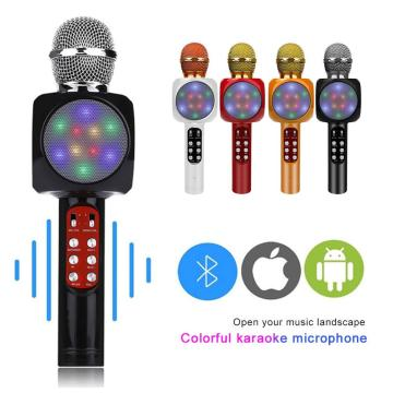 WS1816 Handheld Microphone Wireless Bluetooth Condenser Karaoke Microphone USB Player Mic Speaker For Home KTV PK WS858