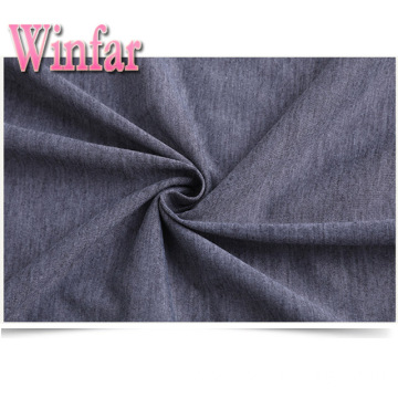 Spandex Melange Polyester Knit Single Jersey Fabric