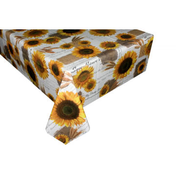 Pvc Printed fitted table covers Table Linens Gold