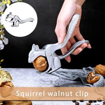 Walnut Pliers Long Squirrel-shaped Nutcracker Walnut Cracker Pliers For Pecans Hazelnut Almonds Walnuts Brazil Nuts Sheller Too