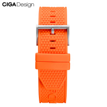 CIGA Design Multicolor Soft Silicone Gear Strap Mens Watches Band Replacement Bracelet for CIGA Mechanical Wristwatches Z Series