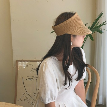 Fashion summer beach straw sun visor cap